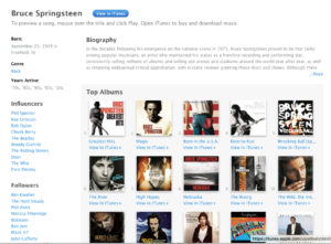 Bruce Springsteen On iTunes